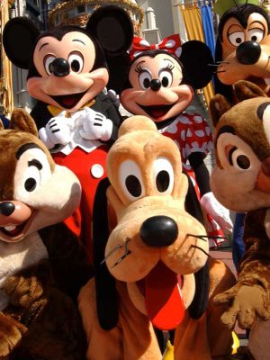 Animation enfant avec organisation anniversaire avec mascotte mickey minnie
