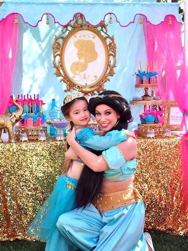 Anniversaire aladdin jasmine fete enfants thème mille et une nuit