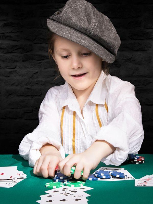 anniversaire casino fete enfant las vegas croupier fan de cartes de jeux