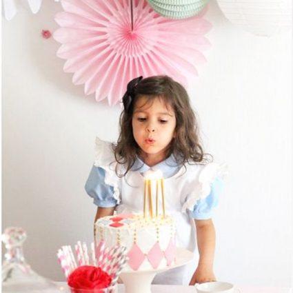 anniversaire thème alice au pays des merveilles enfant fête
