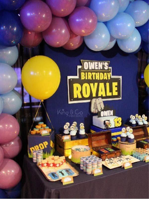 anniversaire enfant Fortnite thème jeux vidéo paris animation