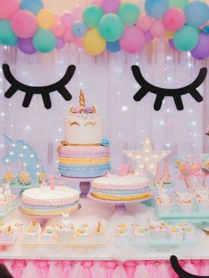 Licorne anniversaire evenement magie thème pour enfant fille agence paris