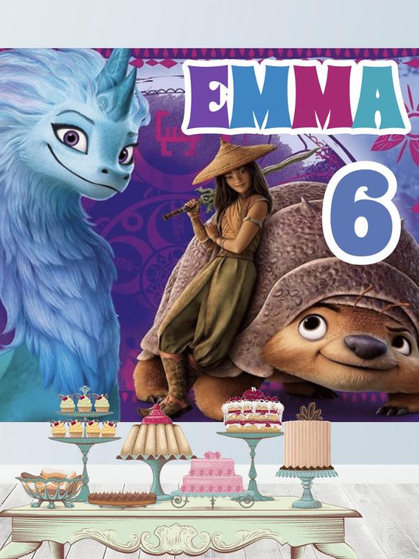 anniversaire raya et le dernier dragon animateur